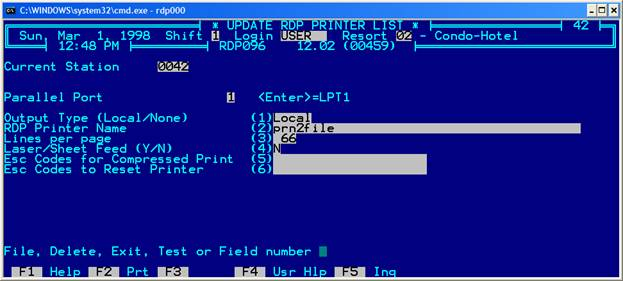 Setting Up Printers in RDP DOS